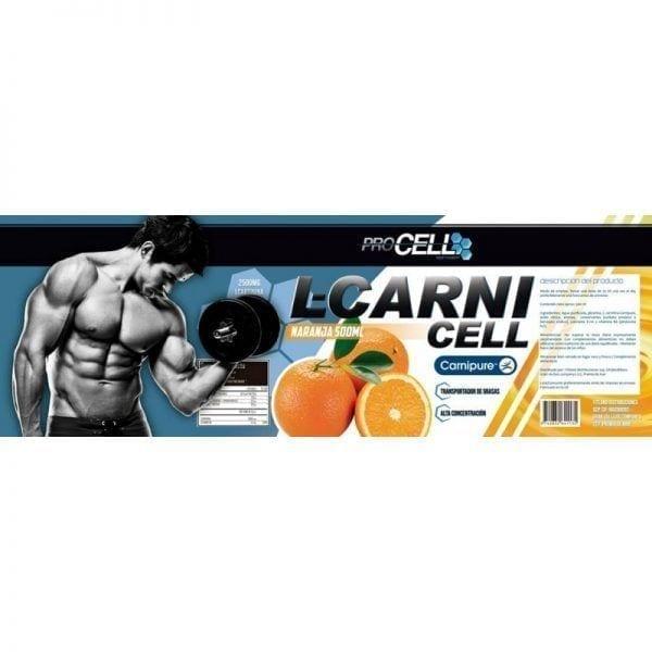 L-CARNICELL 500 ml naranja