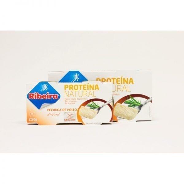 Pechuga de pollo proteína natural 2 x 160 gr