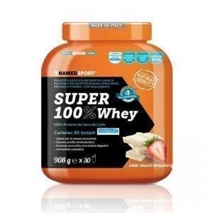SUPER 100% WHEY White Choco & Strawberry 908g